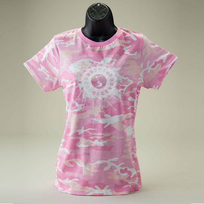 Pink PETE Camo T-shirt - Front View